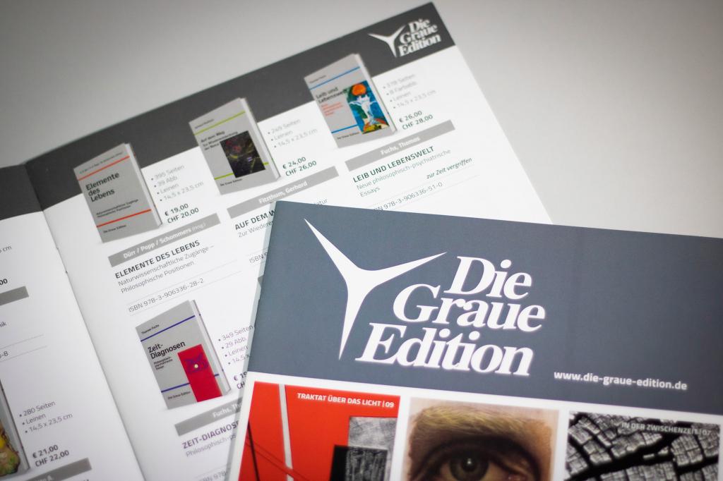Buchkatalog des Verlags »Die Graue Edition«