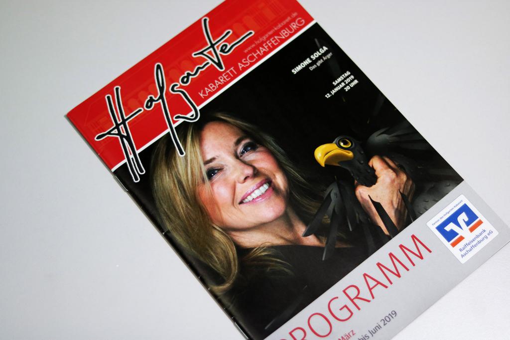 Programmheft des Hofgarten-Kabaretts in Aschaffenburg