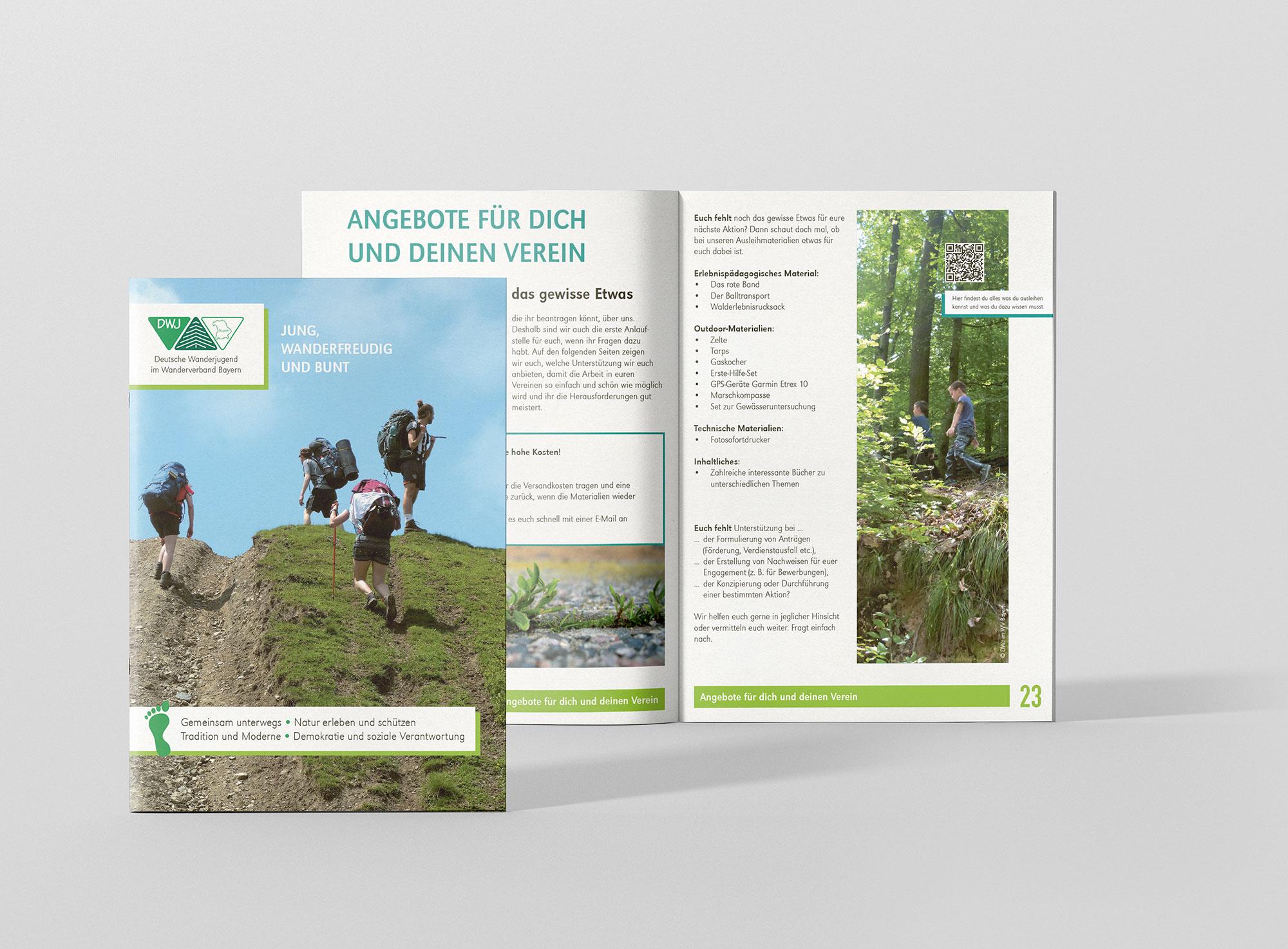 Broschüre der Deutschen Wanderjugend im Wanderverband Bayern